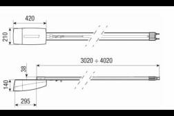 Came Ver 10DMS (3,25м) автоматика для секционных ворот