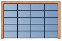 Секционные панорамные ворота AluTherm 4500х3000