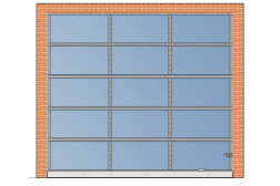 Панорамные ворота AluPro 3000×2700