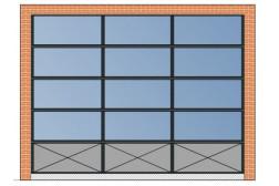 Секционные ворота AluPro 3500х2750