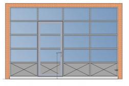 Секционные панорамные ворота AluPro 4500х3000